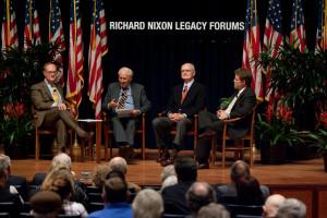 Bill Ruckelshaus, Chris DeMuth and John Whitaker