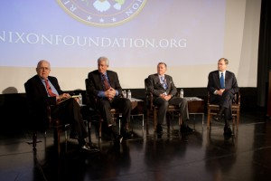 John Lehman, Richard Allen and Richard Solomon, all former members of the National Security Council
