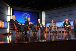 Pat Buchanan, Bill Gavin, Ken Khachigian and Ray Price