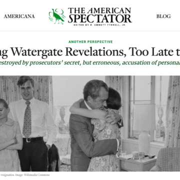 too late to matter american spectator